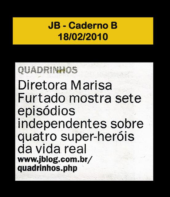Jornal do Brasil - Caderno B - 18/02/2010