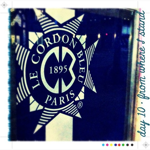 #geekphotoaday - day 10 - #FromWhereIStand : the school emblem I pass at 5:30 am, everyday on my way to class. #lecordonbleu