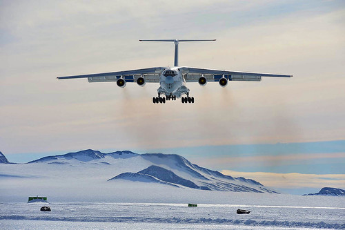 Ilyushin 76 comes for us in Antarctica