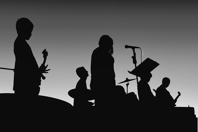 Rock Band in Silhouette | Flickr - Photo Sharing! Rock Band Silhouette