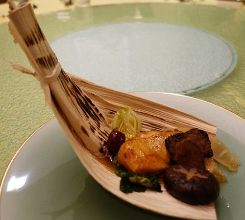 Baked Fish with Notoginseng Root and Astragalus Root. World Gourmet Summit 2014. Eu Yan Sang Dinner at Majestic