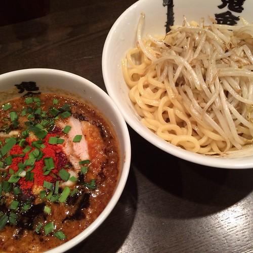 カラシビつけ麺、カラ普通、シビ普通、モヤシ増量 / カラシビつけ麺 鬼金棒