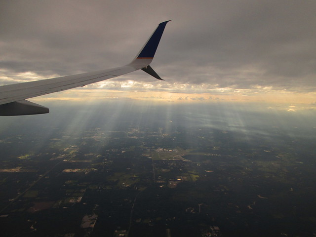 Crepuscular Rays over MSY