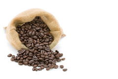 Reasted coffee bean in bag