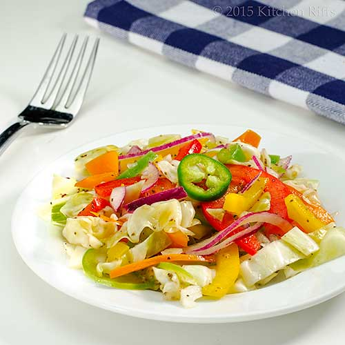 Pepper Coleslaw with Garlic Vinaigrette