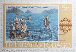 Columbus Sailing through the Bocas