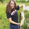 My beautiful @rayray0922 with her biggest bass ever (SO far)!