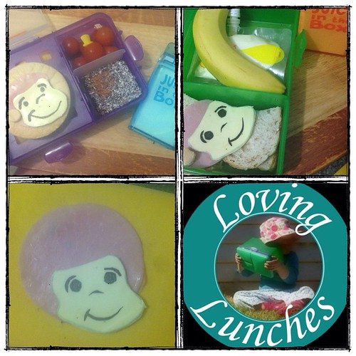 Loving tomorrow's Curious George inspired lunches… and now I know how to make an Afro-do lunch for the next disco night 😳😊! In @nudefoodmovers and Tupperware
