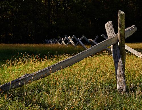 fence posts traditional wood blueridgemountains northcarolina usa