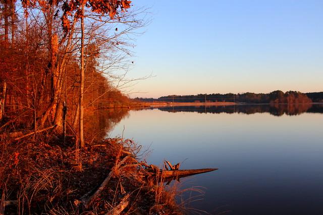 Sunrise on Lake Crabtree