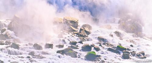 Base of the American and Bridal Veil Falls