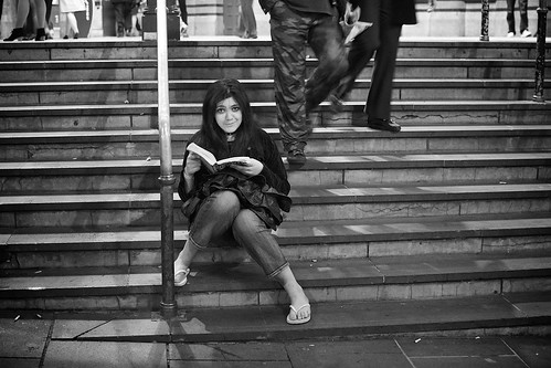 Night Reading @ Flinders St Station