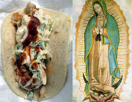 Taco and Our Lady of Guadalupe