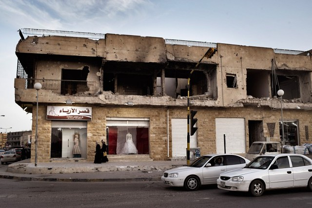 A storefront along Tripoli Street in Misrata.