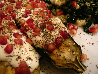 Ottolenghi's auberine with buttermilk sauce
