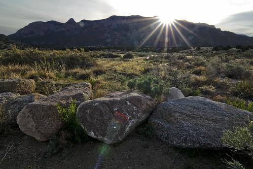 travel light usa mountain newmexico sunrise landscape photography nikon albuquerque flare sandiapeak sandiamountains tramwayrd d7000 tokina1116mmf28