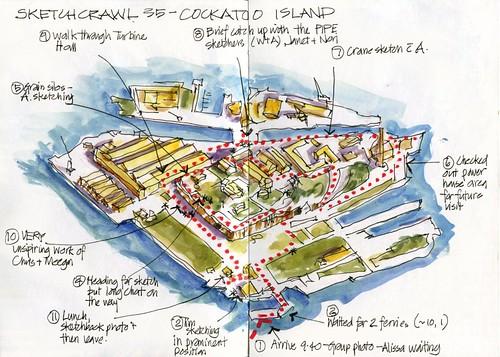 120421 Sketchcrawl35_05 Cockatoo Island Map