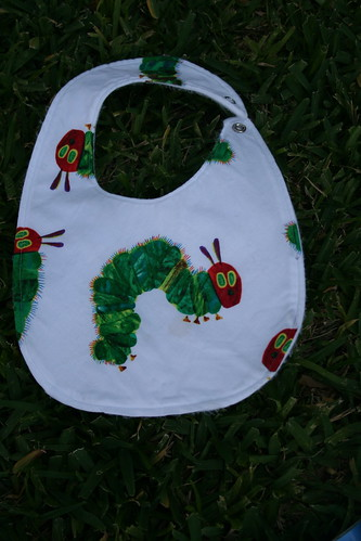 Caterpillar birthday bibs