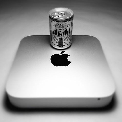 The Mac and the Asahi, perfect combination all aluminum