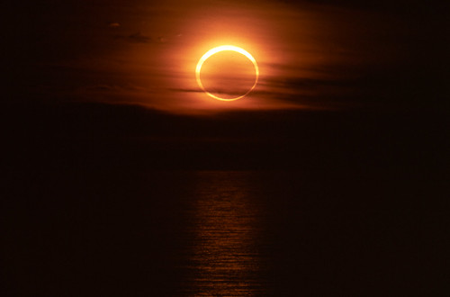 Annular Eclipse Sunset