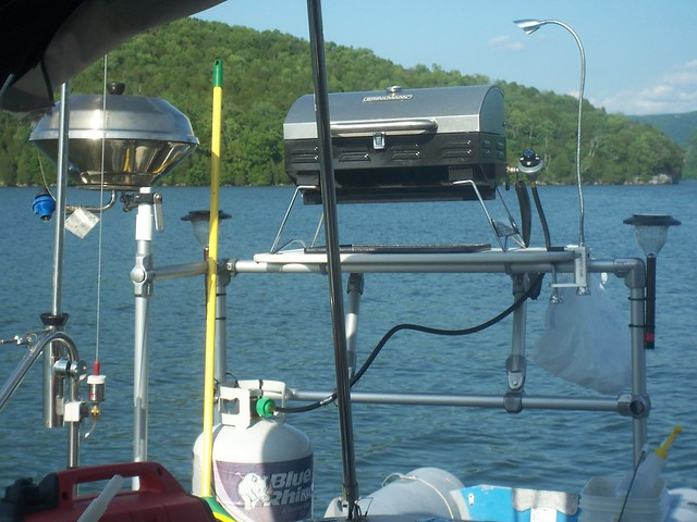 Cooking Rail for a Boat Porch