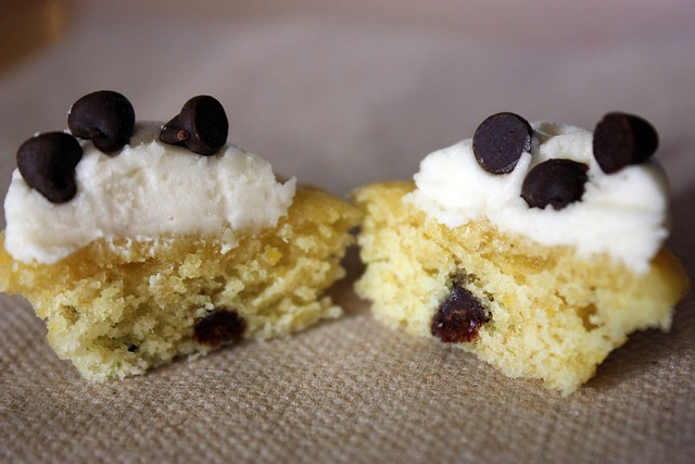 Miniature Chocolate Chip Pancake Cupcake innards