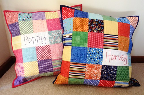 Personalised Patchwork Pillows - Poppy & Harvey - front