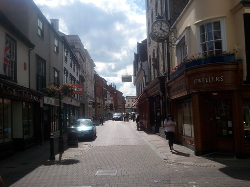 Beautiful cobblestone street in Bury St Edmunds