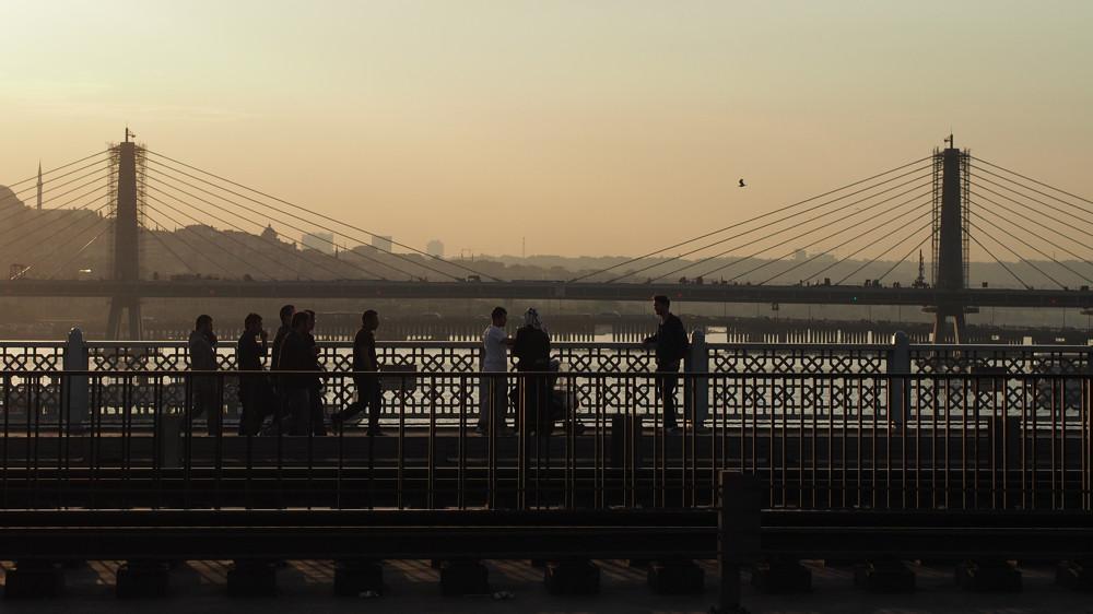 Istanbul - Unkapani Bridge from Galata