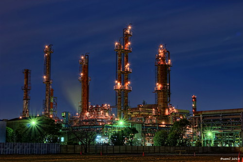 HDR Photo: Factory night view 'Metal tree'