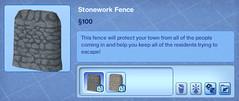 Stonework Fence