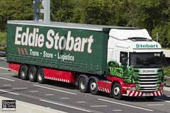 Scania R420 6x2 Tractor - PO11 ZZD - Cara Sorcha - Eddie Stobart - M1 J10 Luton - Steven Gray - IMG_9271