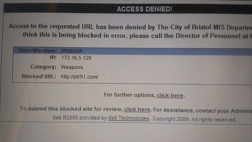 City Blocks Its Computers From Seeing PTR Website