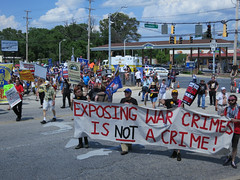 Mass demonstration for Bradley Manning at Fort Meade. June 1, 2013.