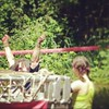 Absolute best moment of the dat. She was so proud that she made it over this obstacle! #gomom #toughmama #dirtygirls #mudrun