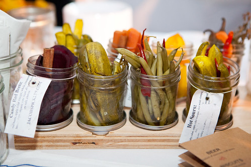 Various pickles by Jacob's Pickles
