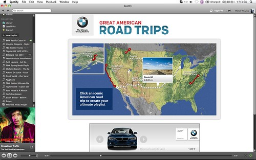 2013 BMW Great American Road Trips campaign@Spotify_06