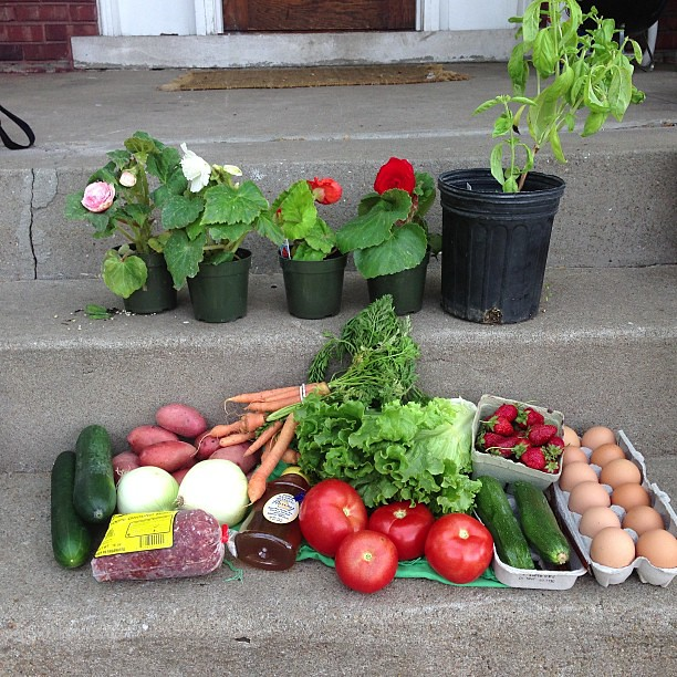 This week's market haul. #farmersmarket #citymarket #kansascity