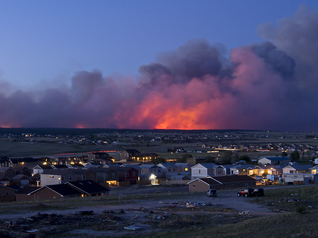 The Black Forest Fire at Dusk