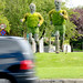 Running men made from plants by Coventry City Council