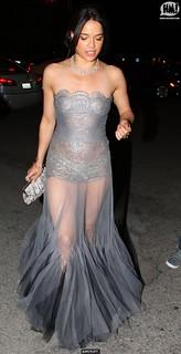 Michelle Rodriguez Sheer Dress Celebrity Style Women's Fashion