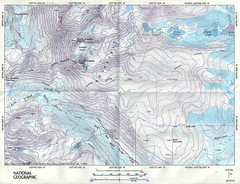 Topo Map for Skywalker Couloir and Arapaho Peaks