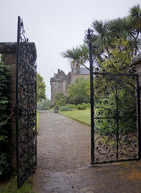 Brodick Castle through the gates