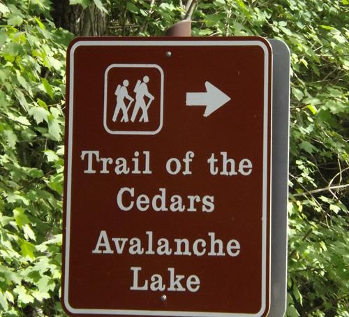 trail of cedars sign 049