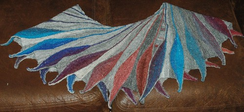 Dreambird Shawl in Handspun Yarn | Knitsnthings's Weblog