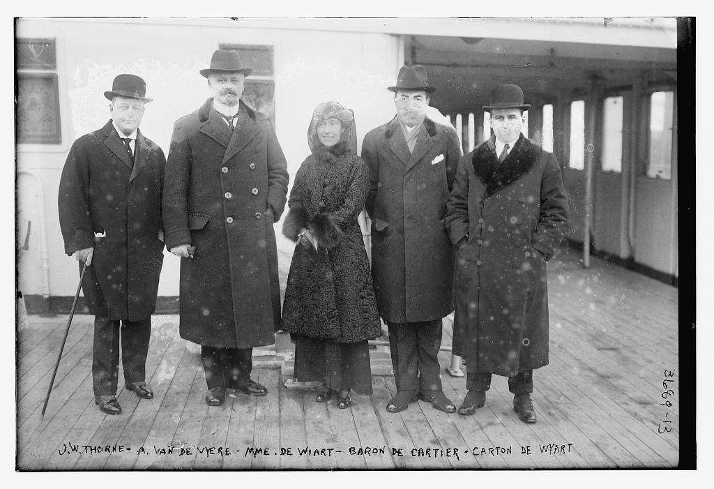 J.W. Thorne -- A. VandeVyere -- Mme. De Wiart -- Baron De Cartier -- Carton de Wyart [i.e., Wiart]  (LOC)