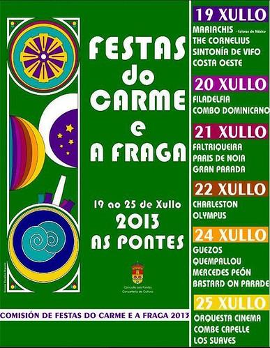 As Pontes 2013 - Festas do Carme e da Fraga - cartel