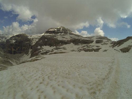 Much snow above 2850m. Target the small refuge on Piz Boe peak (3150m)