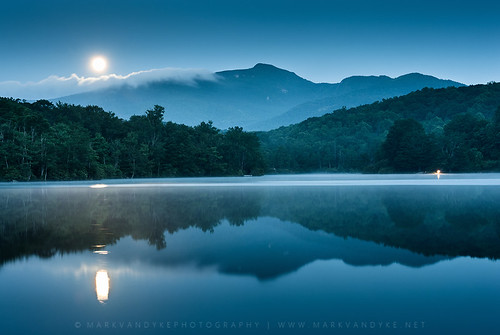 blue trees cloud moon mountain lake reflection water june fog landscape outdoors dawn nc relaxing earlymorning scenic northcarolina calm fullmoon bluehour lantern campground blueridgemountains blueridgeparkway wnc brp westernnorthcarolina forested perigeemoon julianpricememorialpark julianprice photocontesttnc13