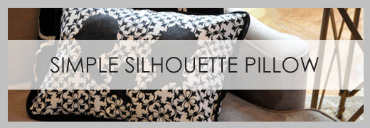 diy simple silhouette pillow